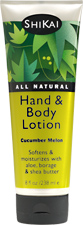 Natural hand & body lotions - Cucumber Melon